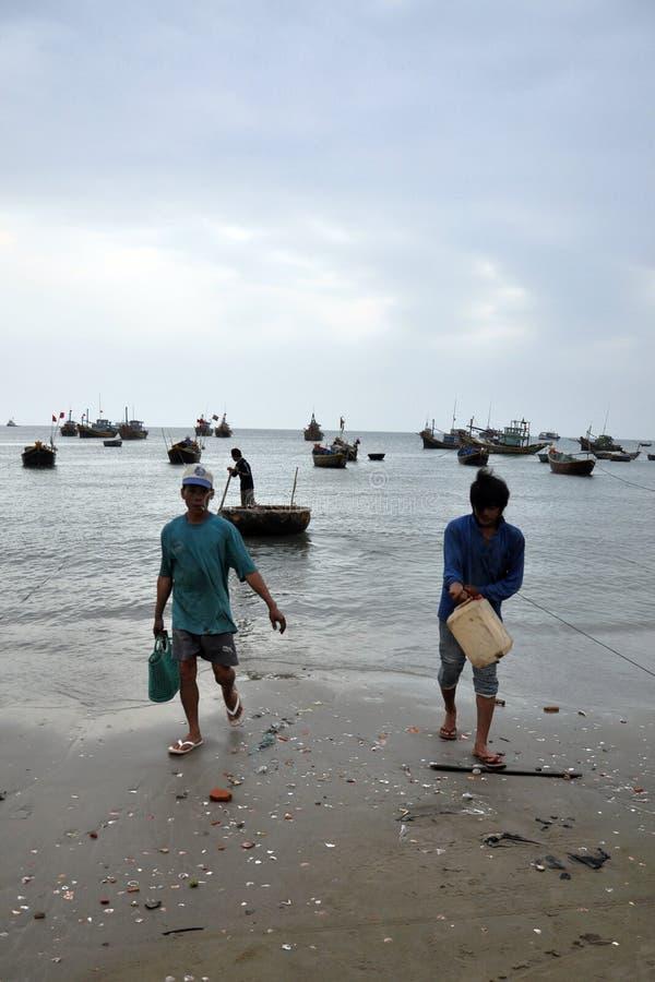 Download Mui ne fishing village editorial stock photo. Image of industry - 26476063