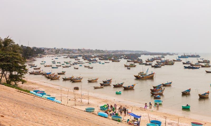Mui Ne połowu miasteczko w południowym wietnamu zdjęcie royalty free