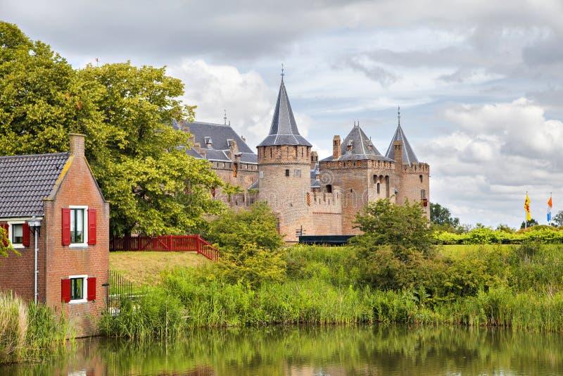 Muiderslot-Schloss, Muiden, die Niederlande lizenzfreie stockfotografie