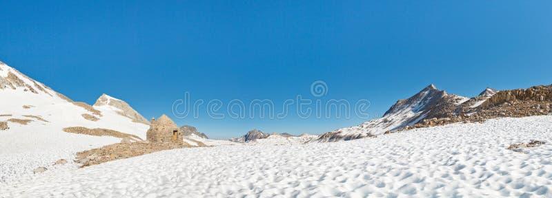Muir Pass Panorama. Sierra Nevada, California, USA stock photo