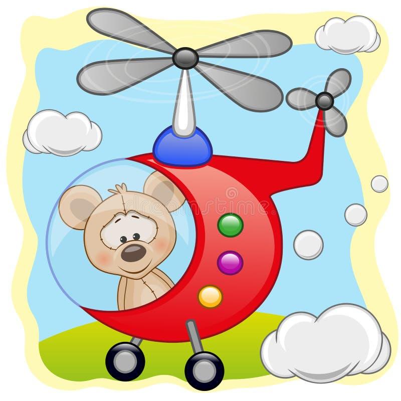 Muis in helikopter vector illustratie