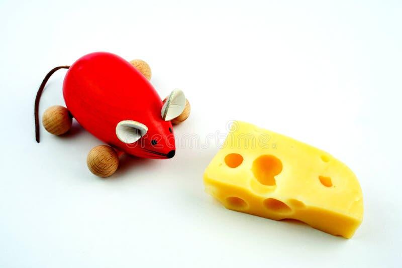 Muis met kaas stock afbeeldingen