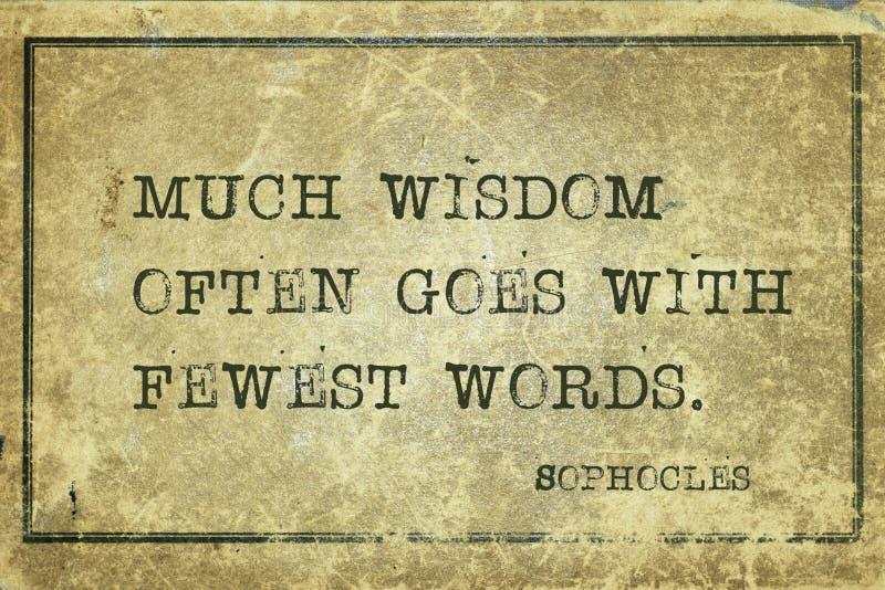 Muita sabedoria Sophocles ilustração do vetor