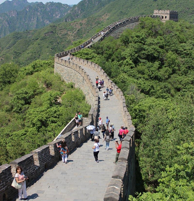 Muitanyu Grote Muur van China stock foto's
