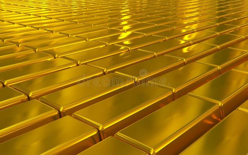 Barras de ouro fotografia de stock
