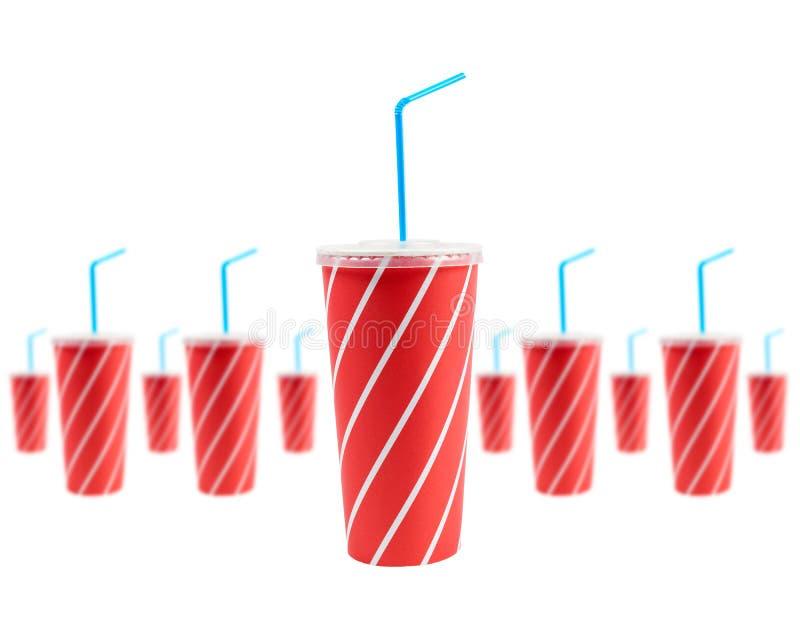 Muitas bebidas da soda imagem de stock royalty free