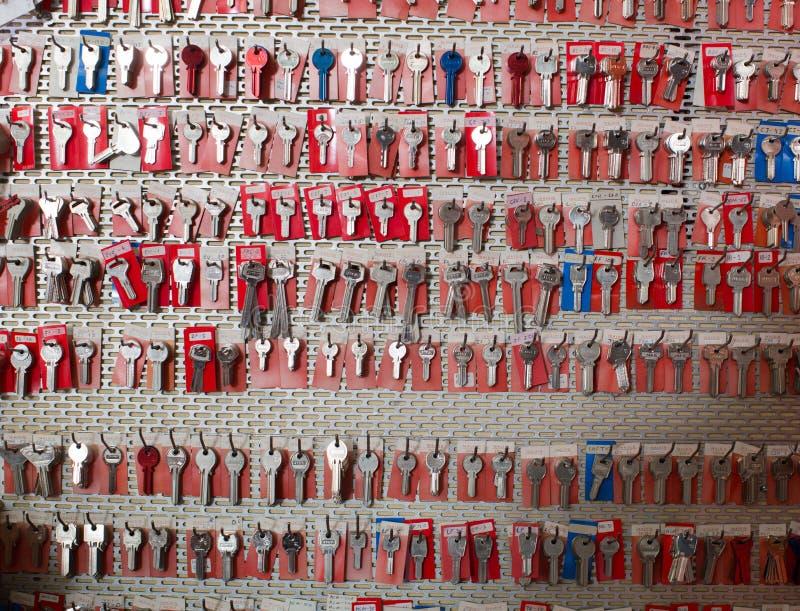 Muitas chaves editoriais fotografia de stock