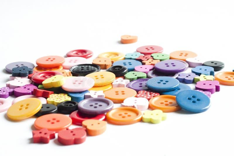 Muitas cores dos botões foto de stock royalty free