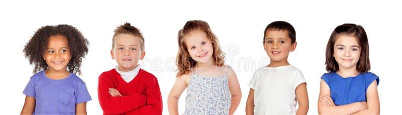 Muitas crianças fotografia de stock royalty free