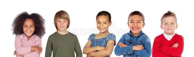 Muitas crianças que olham a câmera imagens de stock