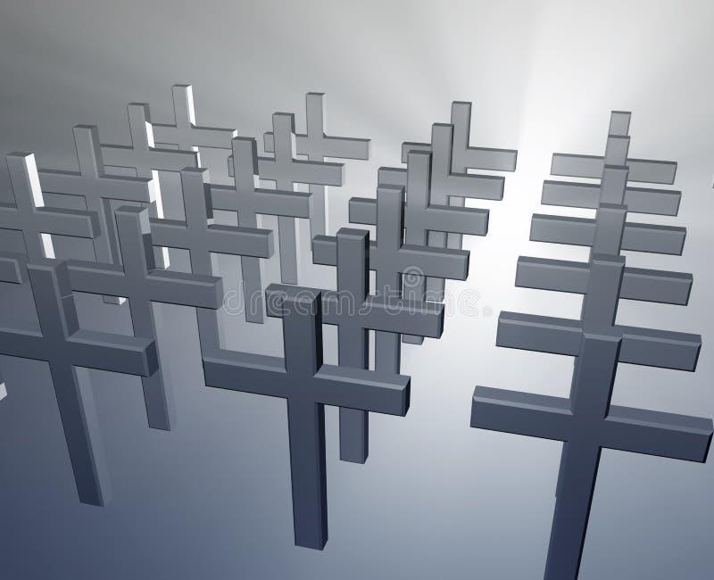 Muitas cruzes do cristão ilustração royalty free