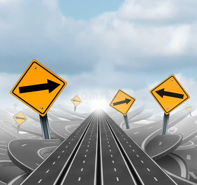Muitas estradas ao sucesso ilustração stock