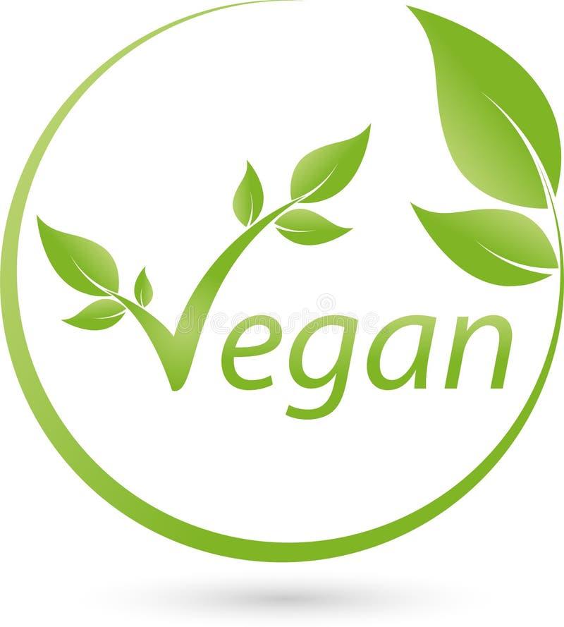 Muitas folhas no logotipo do verde, da natureza e do vegetariano ilustração do vetor