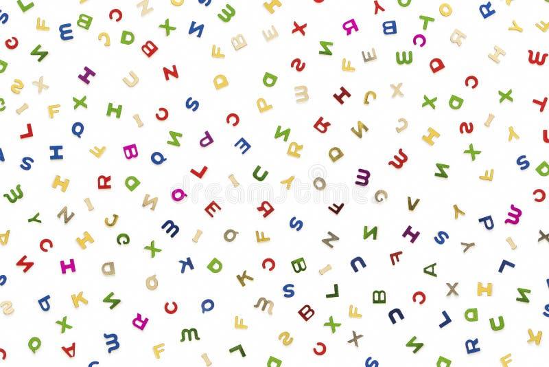 Muitas letras de várias cores ilustração royalty free