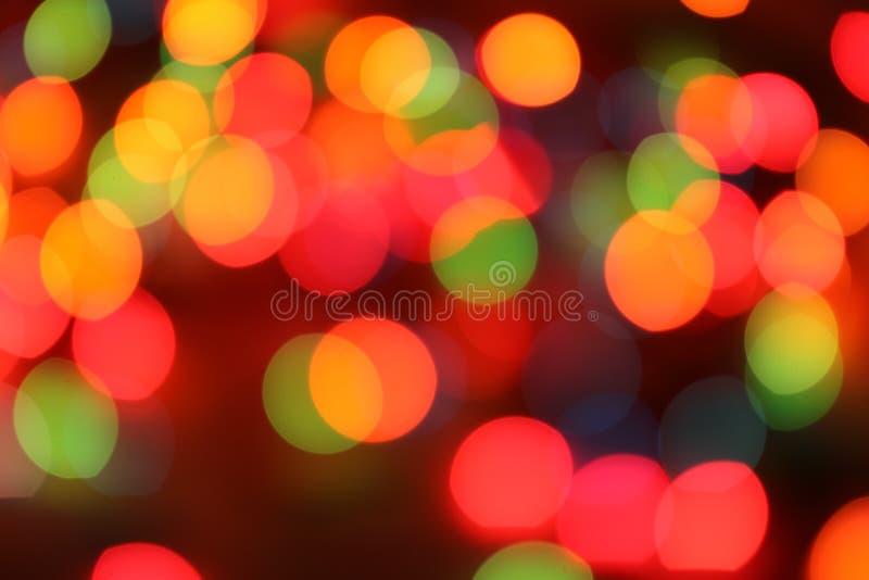Muitas luzes grandes no escuro Blurry foto de stock