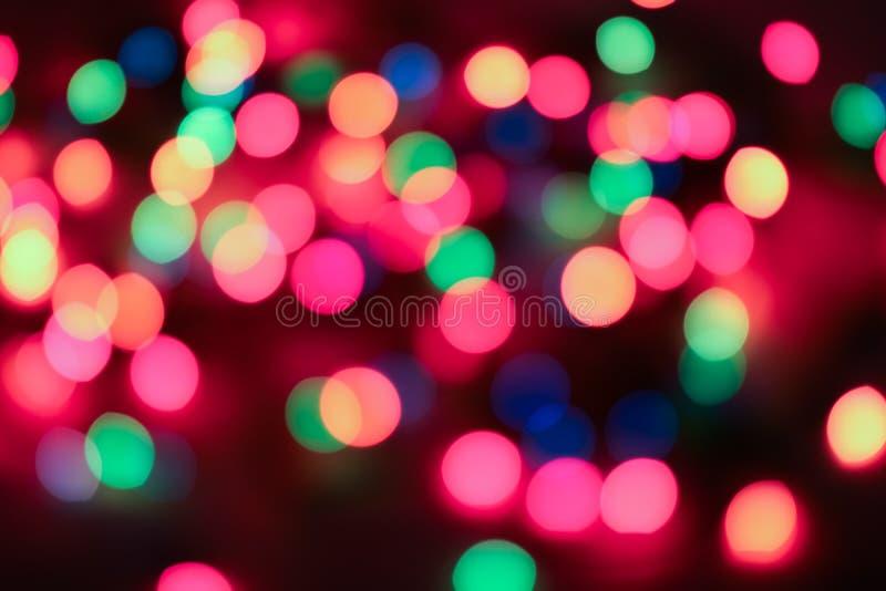 Muitas luzes no escuro Blurry imagens de stock royalty free