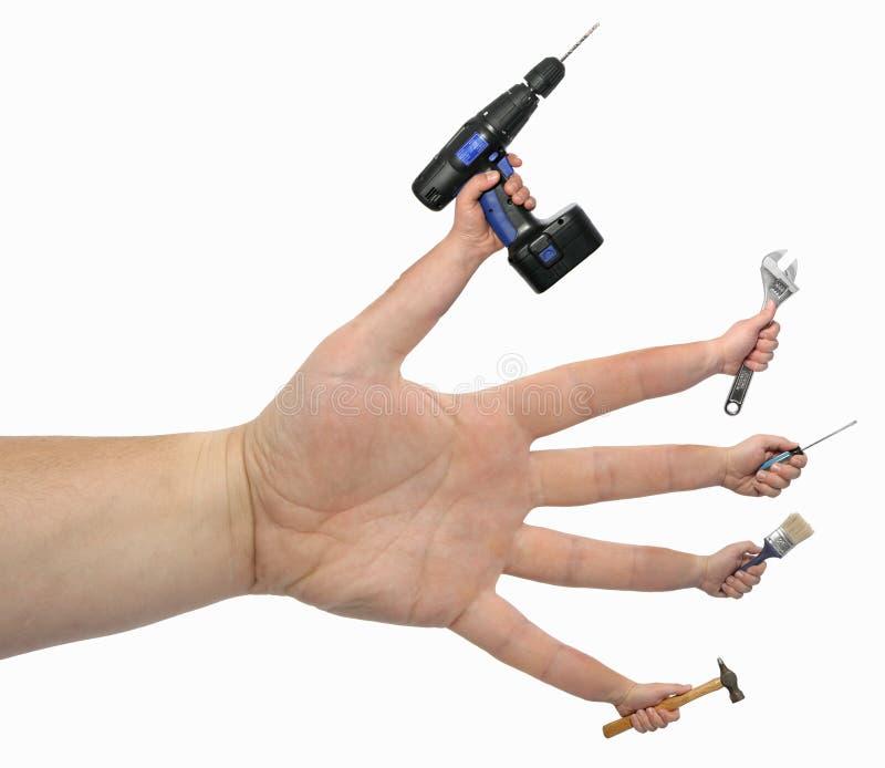 Muitas Mãos Fazem O Trabalho Claro! Fotos de Stock Royalty Free