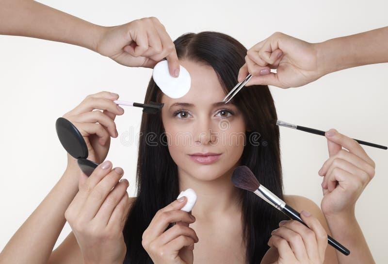 Download Muitas Mãos Fazem O Trabalho Claro Imagem de Stock - Imagem de nomes, cabelo: 26521921