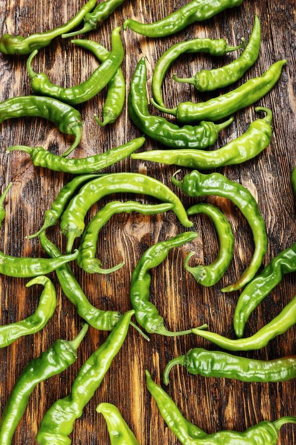 Muitas pimentas de pimentão verdes imagens de stock royalty free