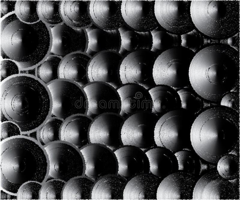 Muitas tampas, cores escuras cinzentas ilustração do vetor