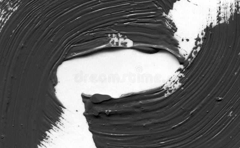 MUITO definição da ALTURA Fundo abstrato da tinta Estilo de mármore Textura preto e branco do curso da pintura Imagem macro de imagem de stock