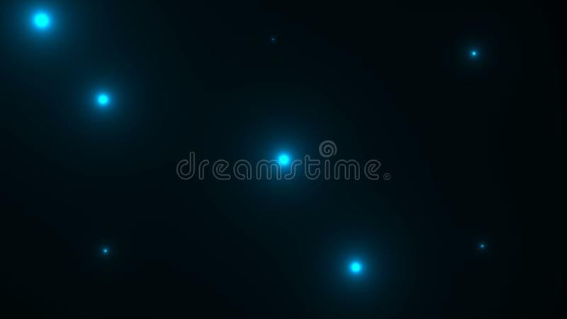 Muito a foto brilhante pisca com raios de luzes na escuridão, computador da rendição 3d que gera o contexto imagens de stock royalty free