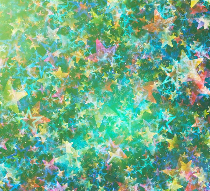 Muito o voo colorido stars o fundo ilustração do vetor