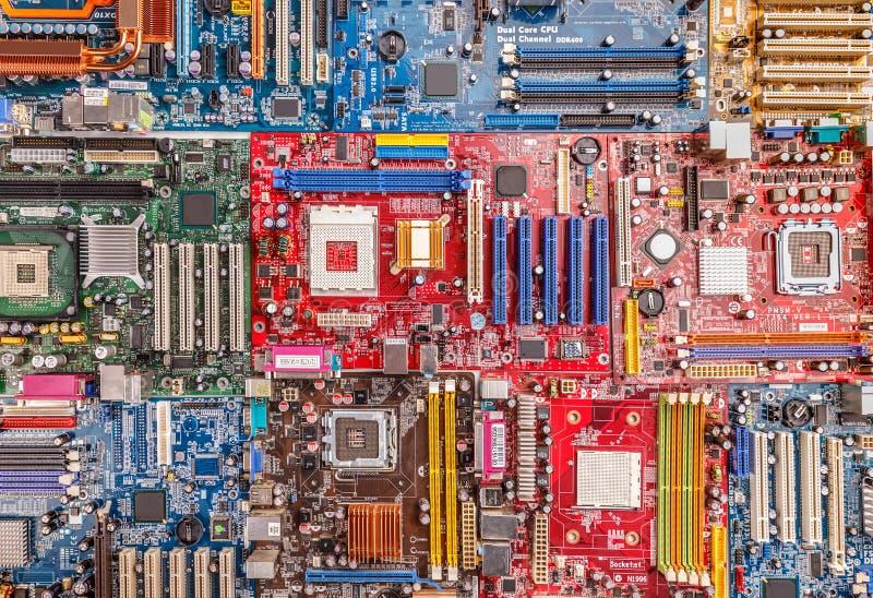 Muito placa eletrônica fotografia de stock