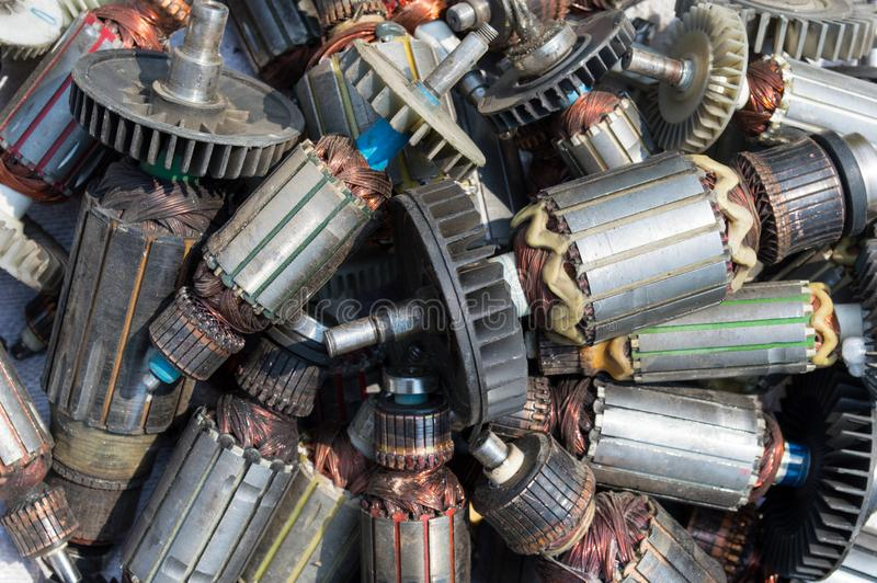 Muito rotor usado velho de fotos de stock