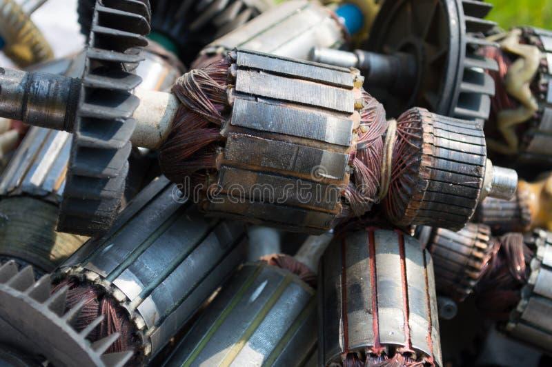 Muito rotor usado velho de fotografia de stock