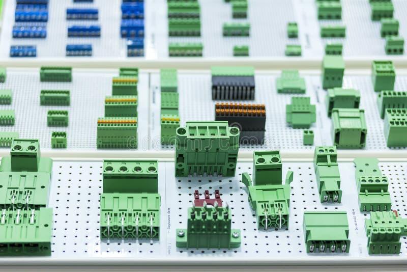 Muito tipo do soquete eletrônico do conector da amostra nova para industrial imagens de stock royalty free