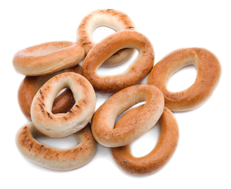 Muitos bagels deliciosos imagem de stock