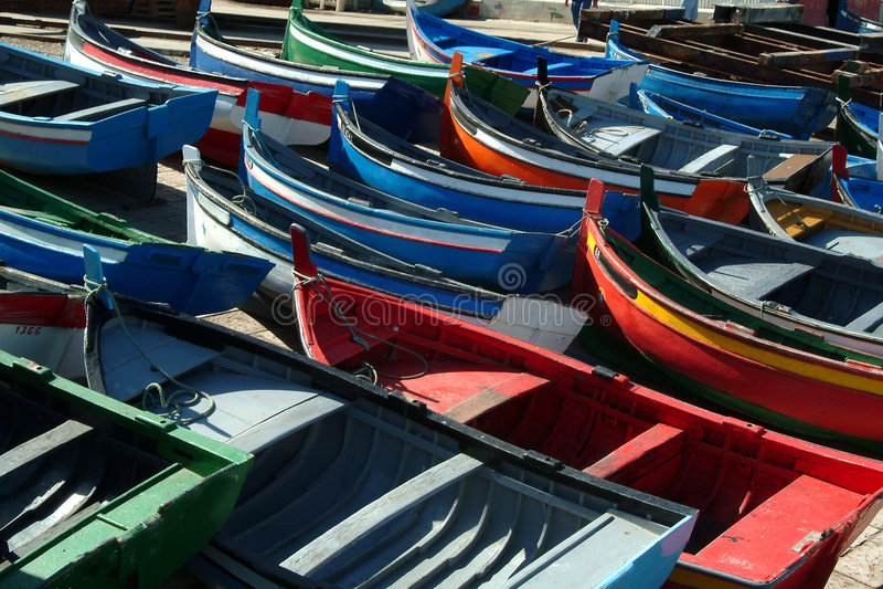 Muitos barcos imagens de stock royalty free
