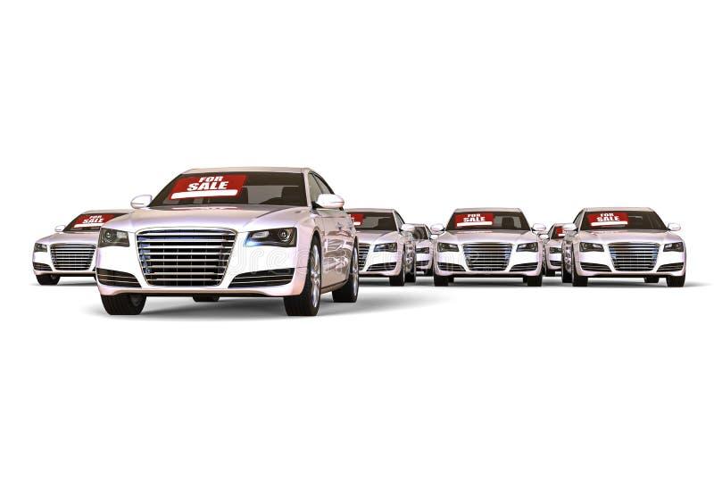 Muitos carros para a venda ilustração stock