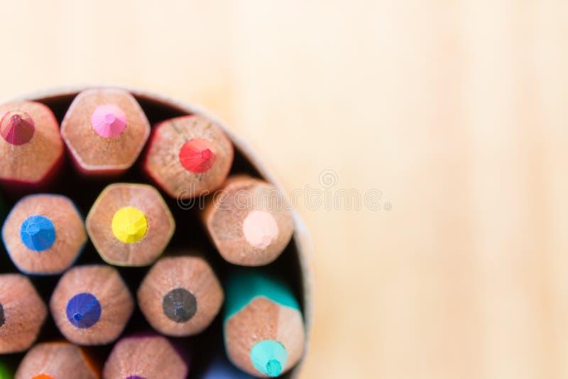 Muitos coloriram lápis foto de stock royalty free