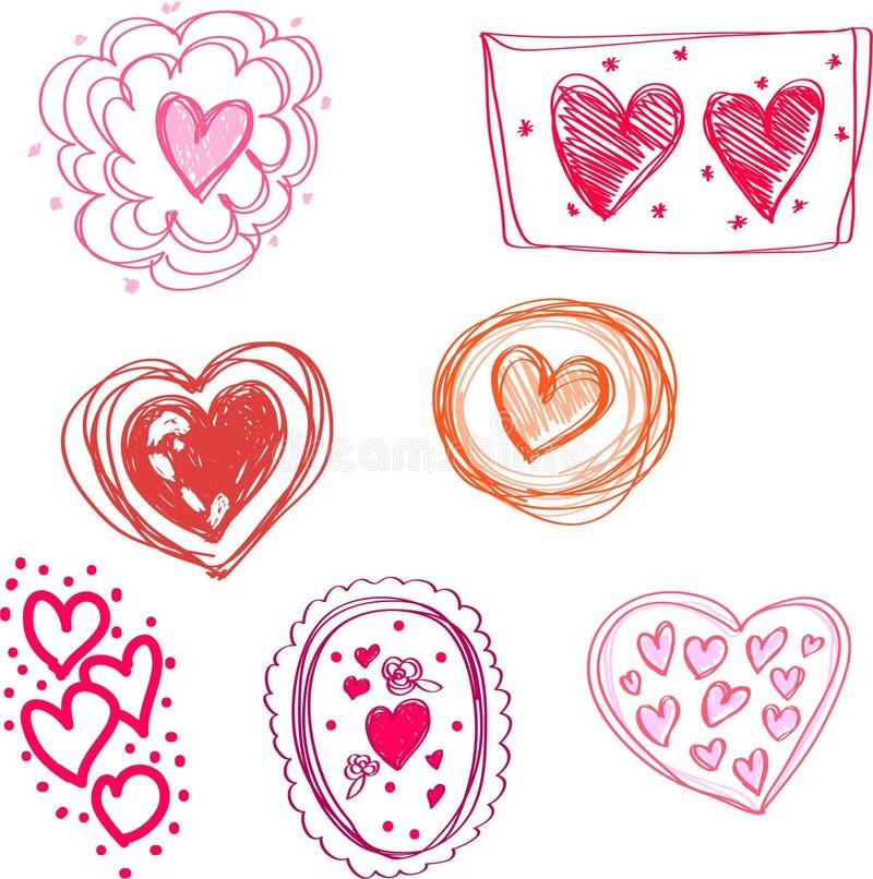 Muitos corações ilustração do vetor