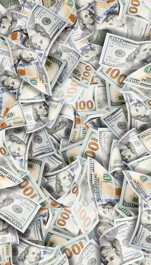 Muitos dólares Imagem altamente detalhada do dinheiro americano imagens de stock