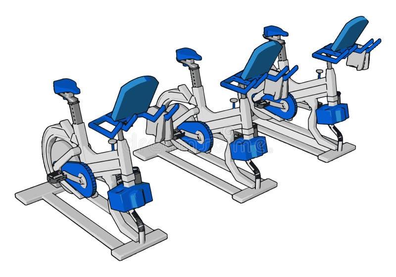 Muitos exercícios no vetor de ginástica ou ilustração de cores ilustração stock