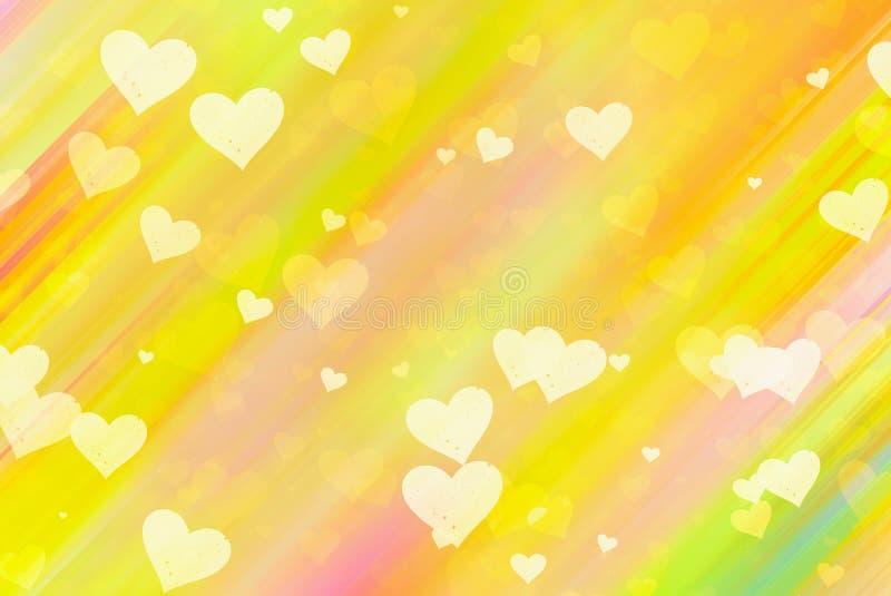 Muitos fundos pintados pequenos dos corações ilustração stock