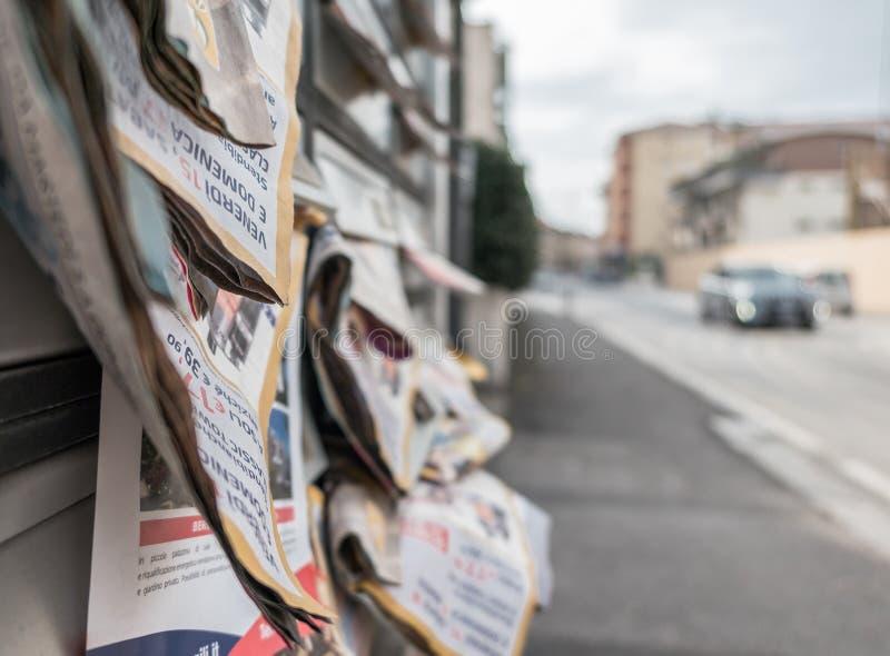 Muitos insetos nas caixas postais imagem de stock