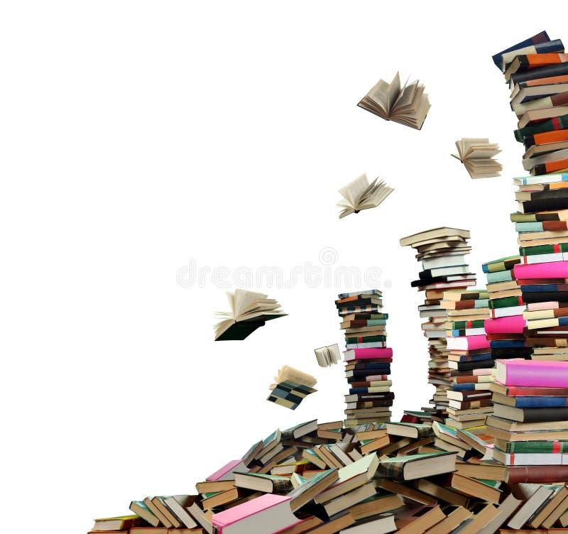 Muitos livros imagens de stock