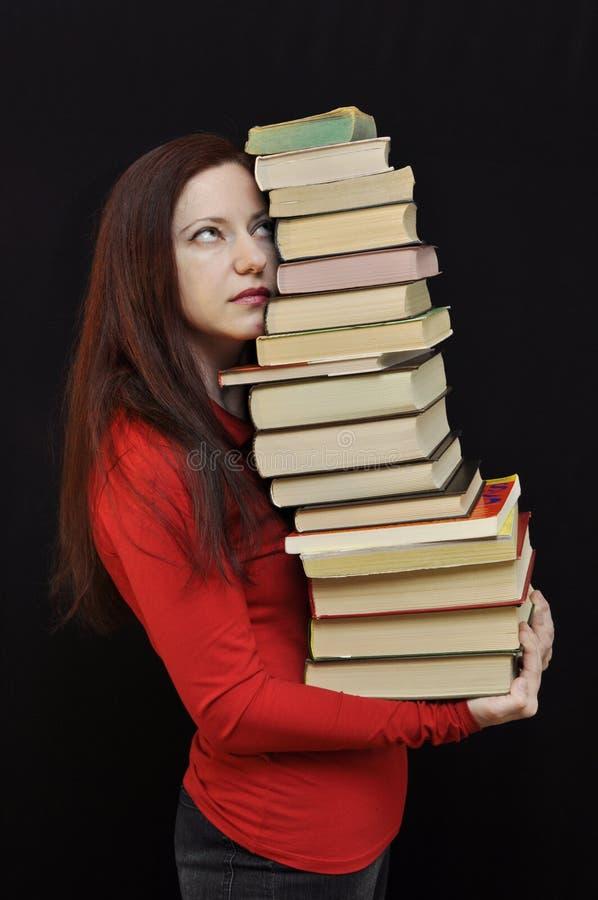 Muitos livros fotos de stock