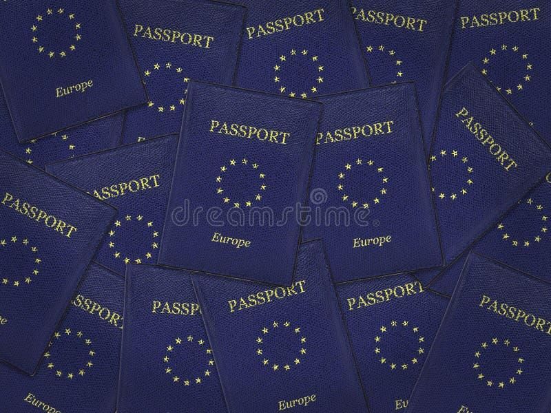 Muitos passaportes da União Europeia foto de stock royalty free