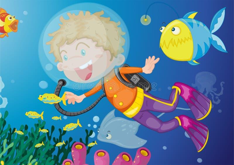 Muitos peixes ilustração royalty free