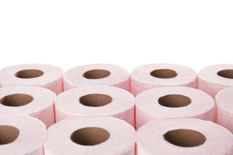 Muitos rolos de papel higiênico fotos de stock royalty free
