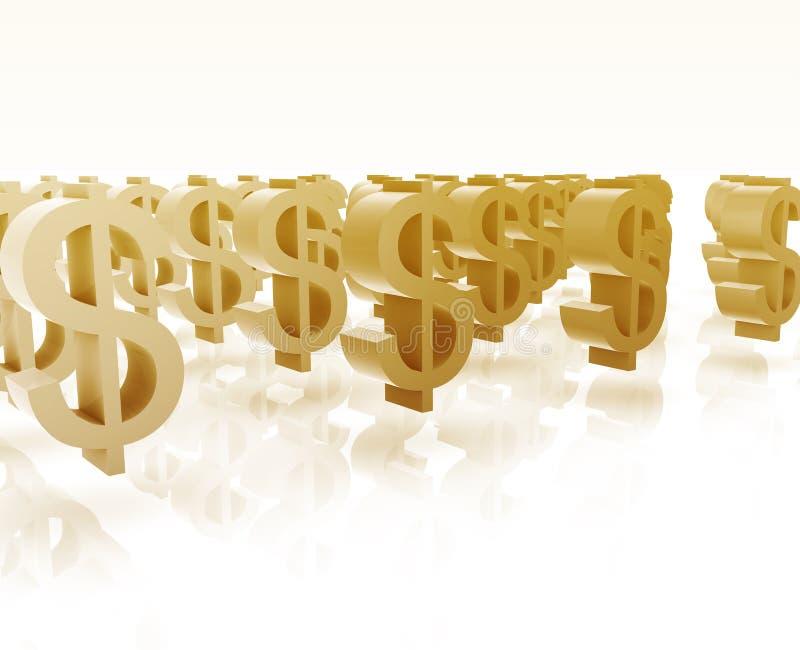 Download Muitos símbolos do dólar ilustração stock. Ilustração de dinheiro - 10058371