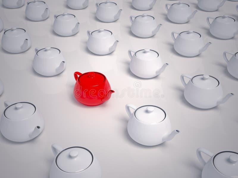 Muitos Teapots - que para escolher foto de stock
