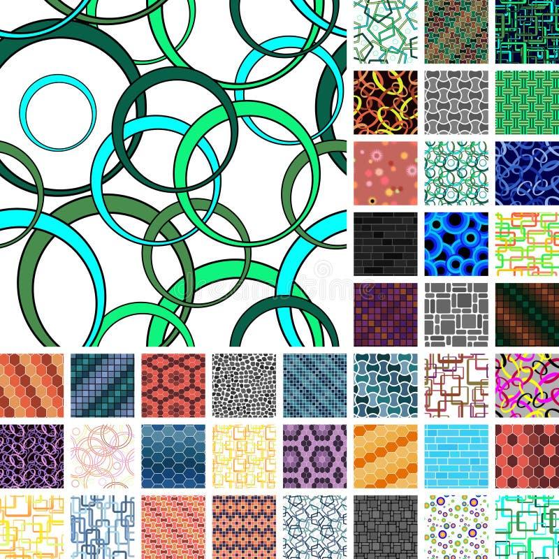 Muitos testes padrões sem emenda ilustração stock