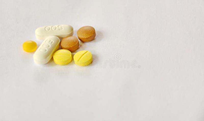Muitos tipos de drogas foto de stock