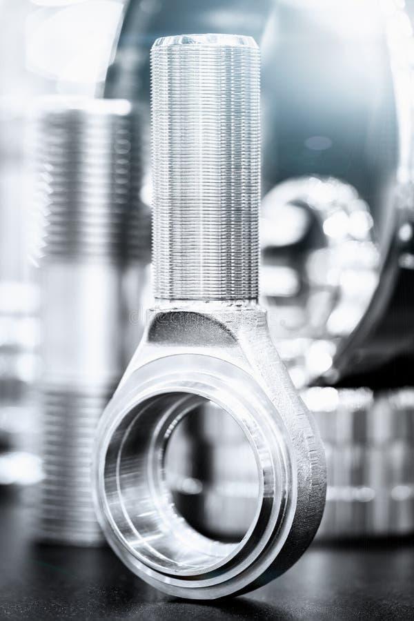 Muitos tipos de metal detalham o fundo do projeto industrial foto de stock